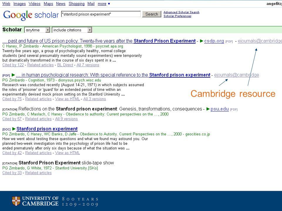 Cambridge resource
