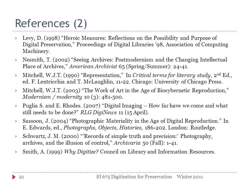References (2)  Levy, D.
