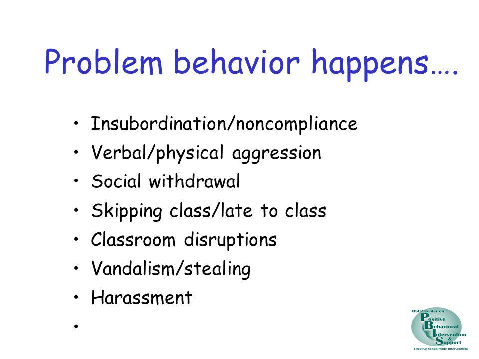 Problem behavior happens….