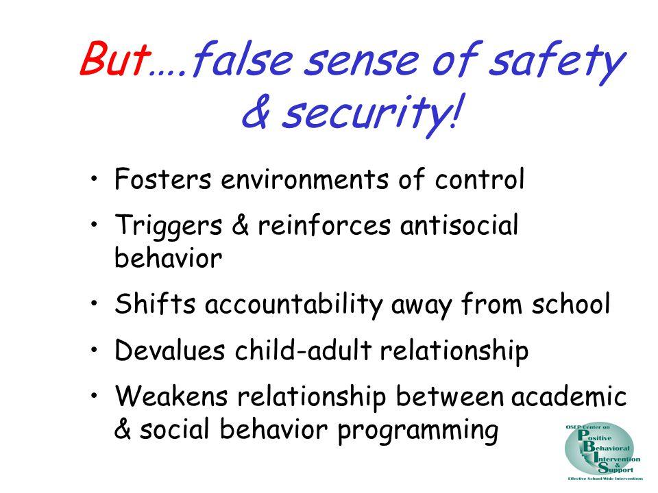 But….false sense of safety & security.