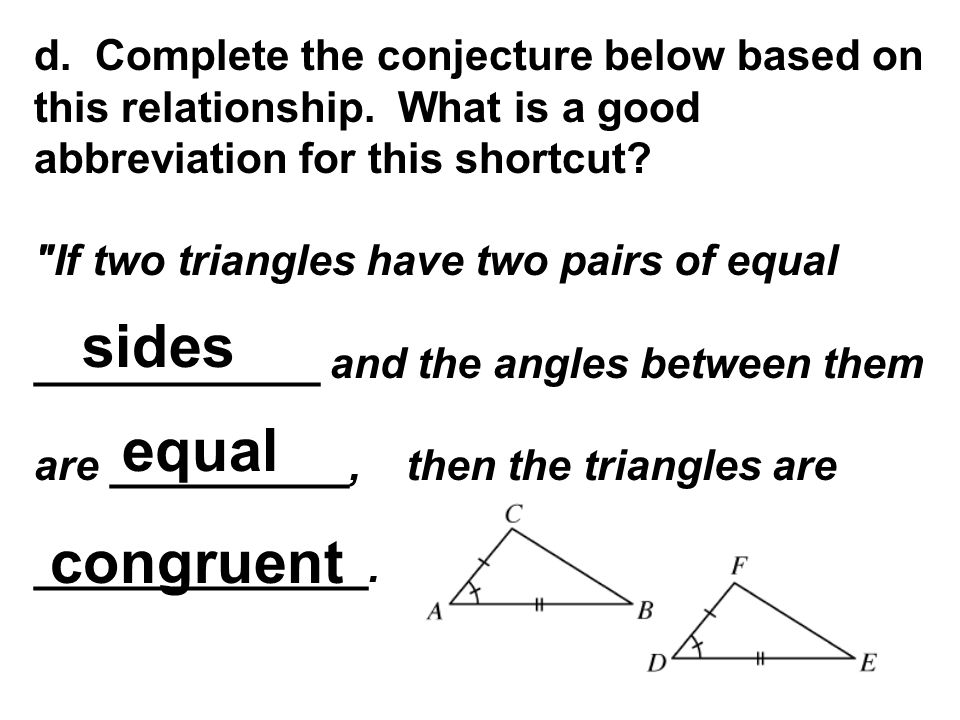 d. Complete the conjecture below based on this relationship. What is a good abbreviation for this shortcut?