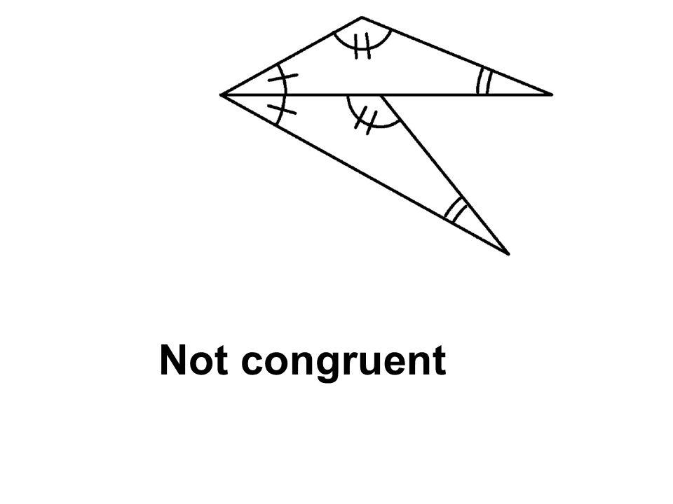 Not congruent