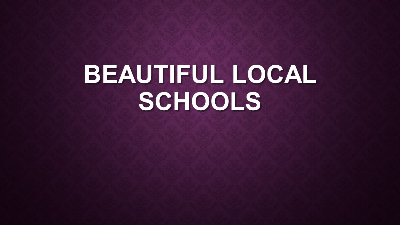 BEAUTIFUL LOCAL SCHOOLS