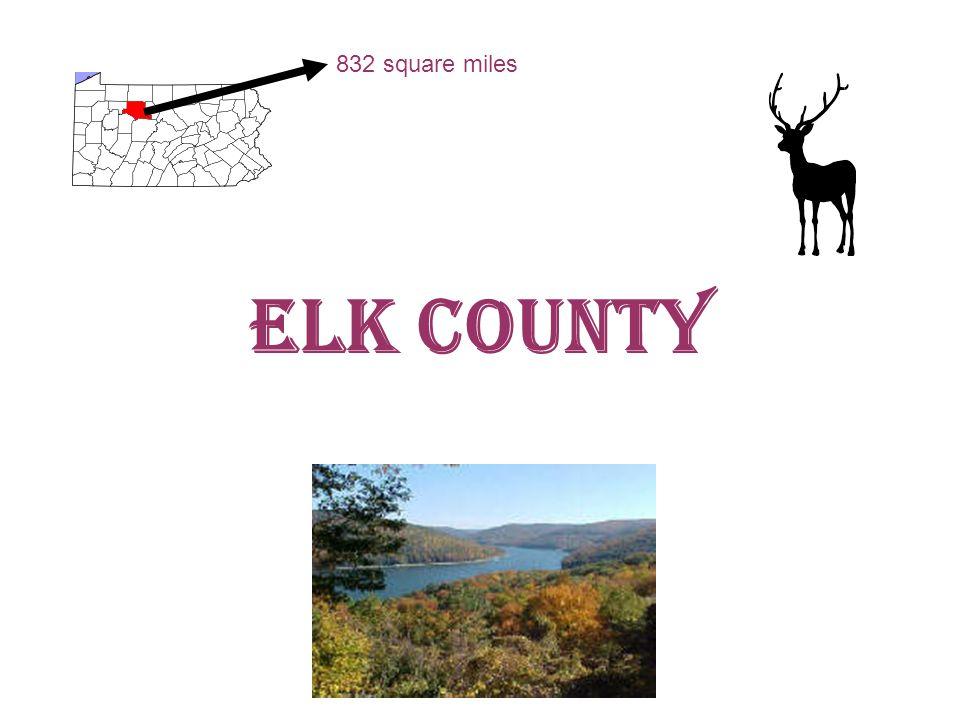 Elk County 832 square miles