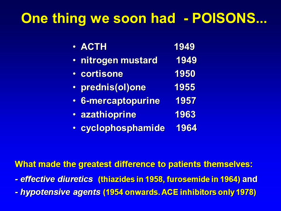 One thing we soon had - POISONS...