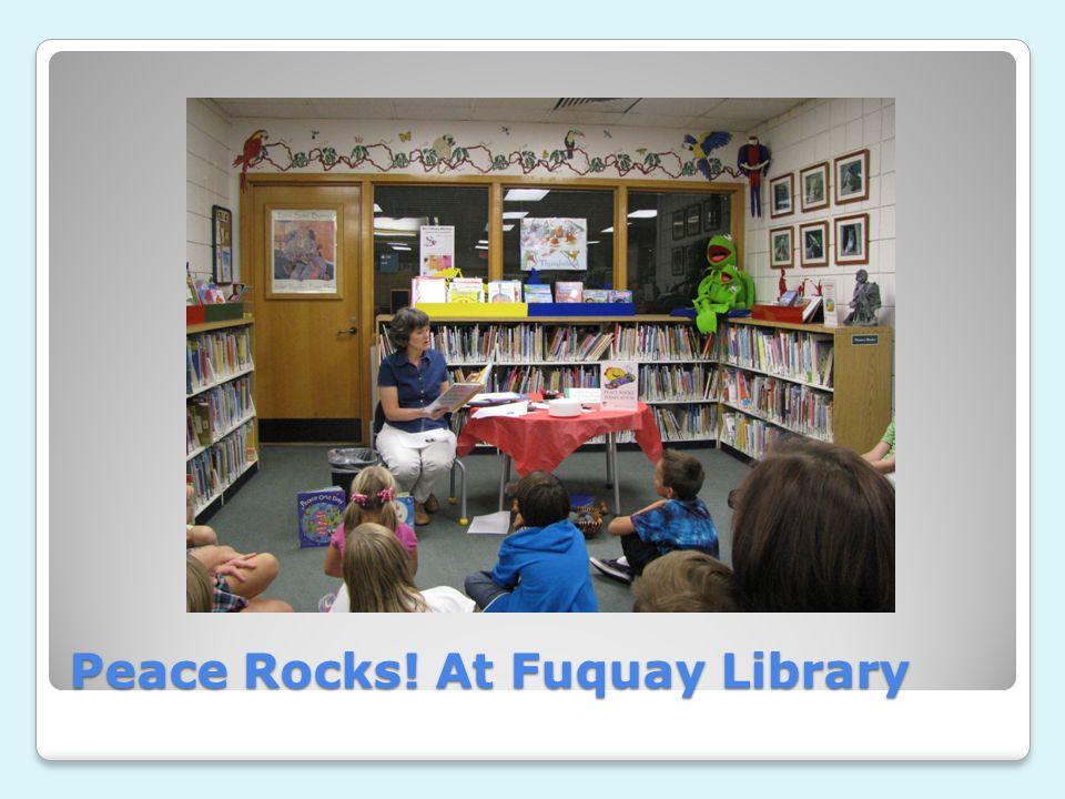 Peace Rocks! At Fuquay Library