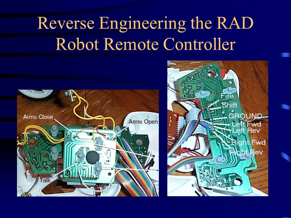 Reverse Engineering the RAD Robot Remote Controller