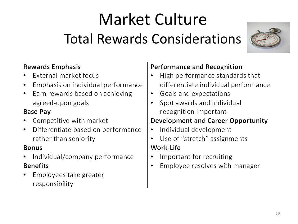 Market Culture Total Rewards Considerations 26