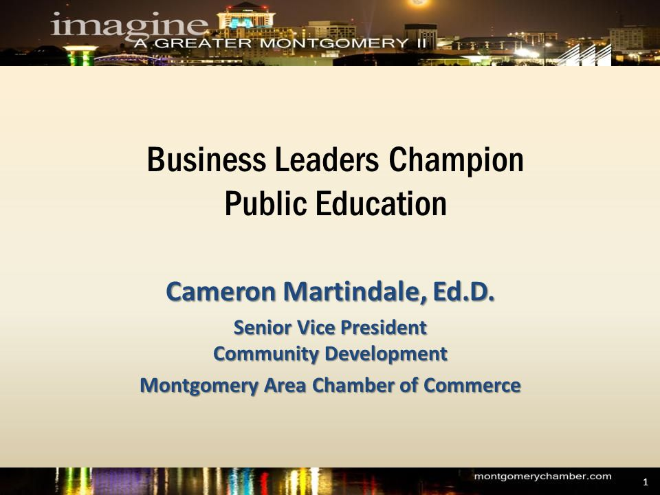 Business Leaders Champion Public Education Cameron Martindale, Ed.D.