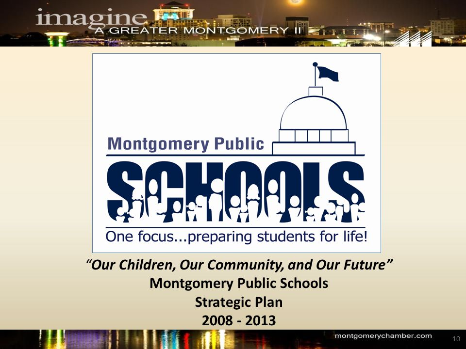 Our Children, Our Community, and Our Future Montgomery Public Schools Strategic Plan 2008 - 2013 10