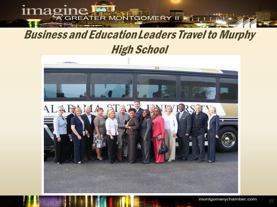 Business and Education Leaders Travel to Murphy High School 15
