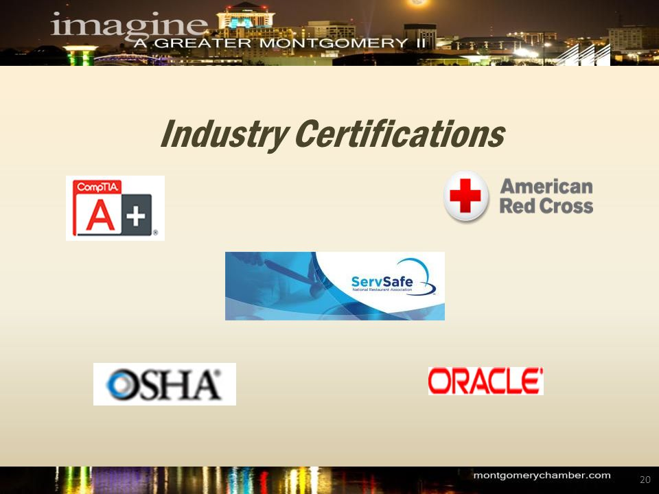 Industry Certifications 20