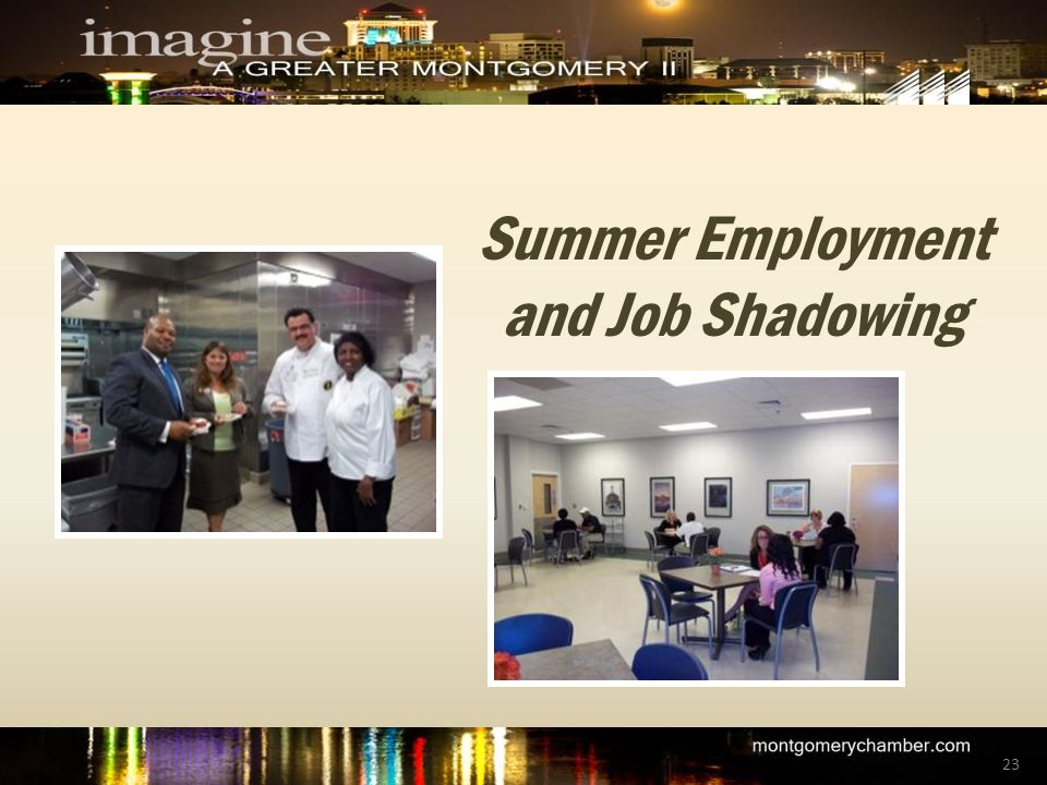 Summer Employment and Job Shadowing 23