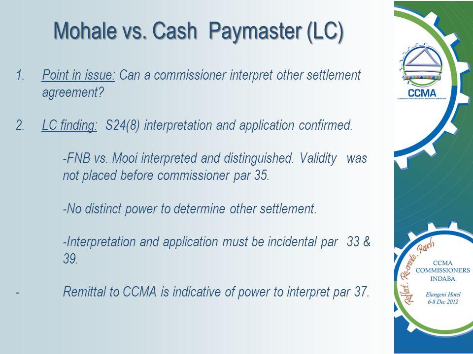 Mohale vs.