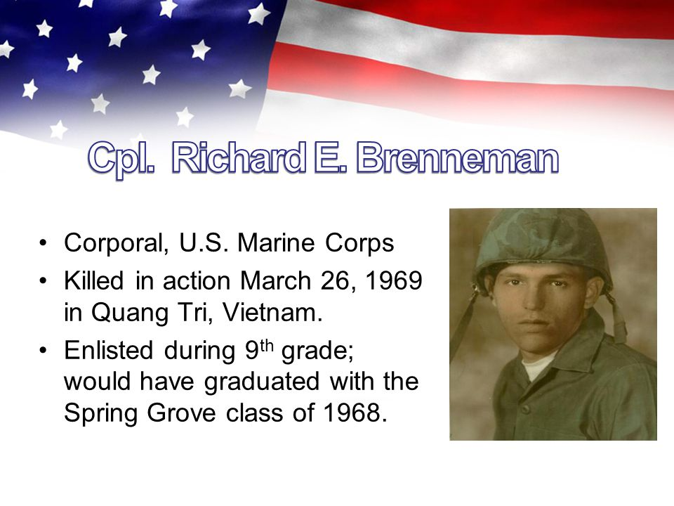 Specialist 4 th Class, U.S. Army Killed in action March 12, 1969, in Hua Nghia, Vietnam.