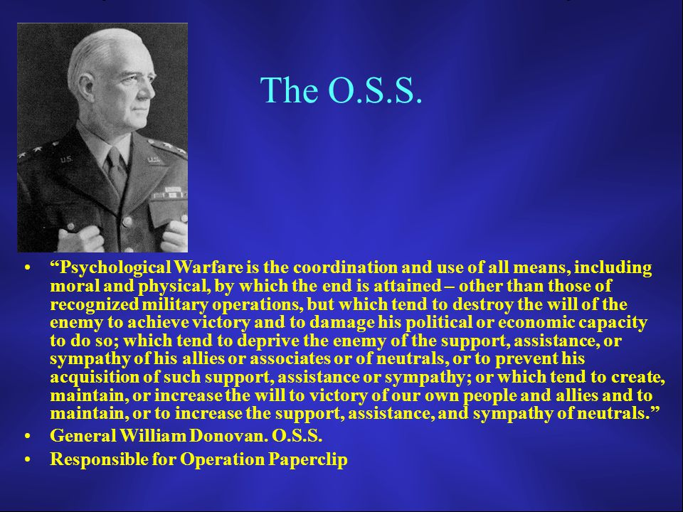 The O.S.S.