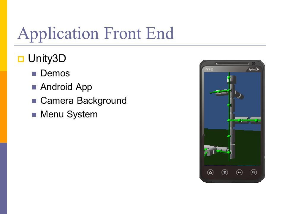 Application Front End  Unity3D Demos Android App Camera Background Menu System