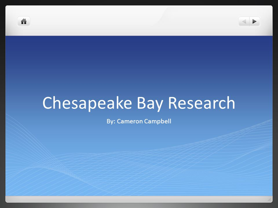 Chesapeake Bay Research By: Cameron Campbell