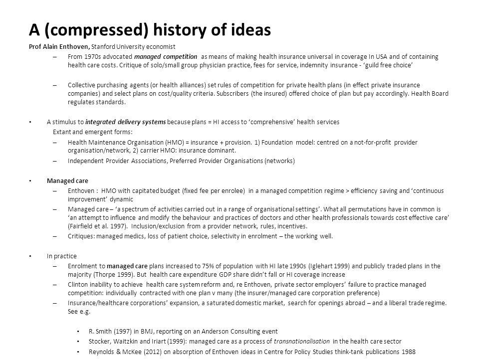 Health & Social Care Integration A long history of proposals...