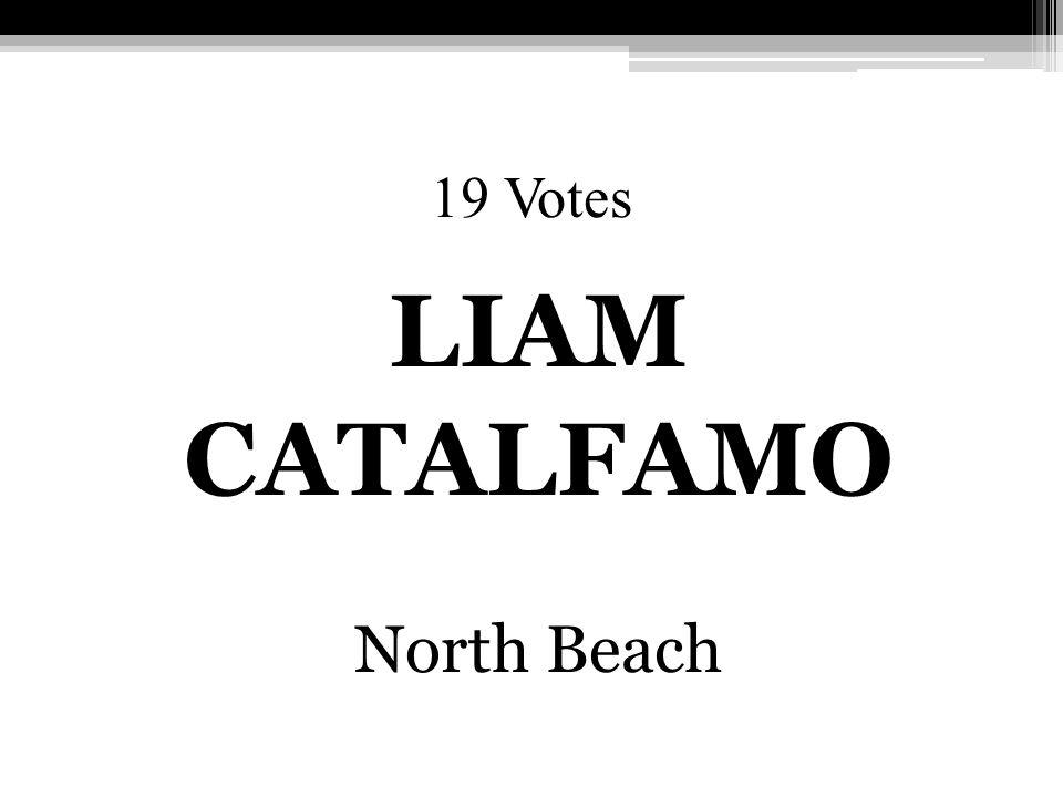 19 Votes LIAM CATALFAMO North Beach