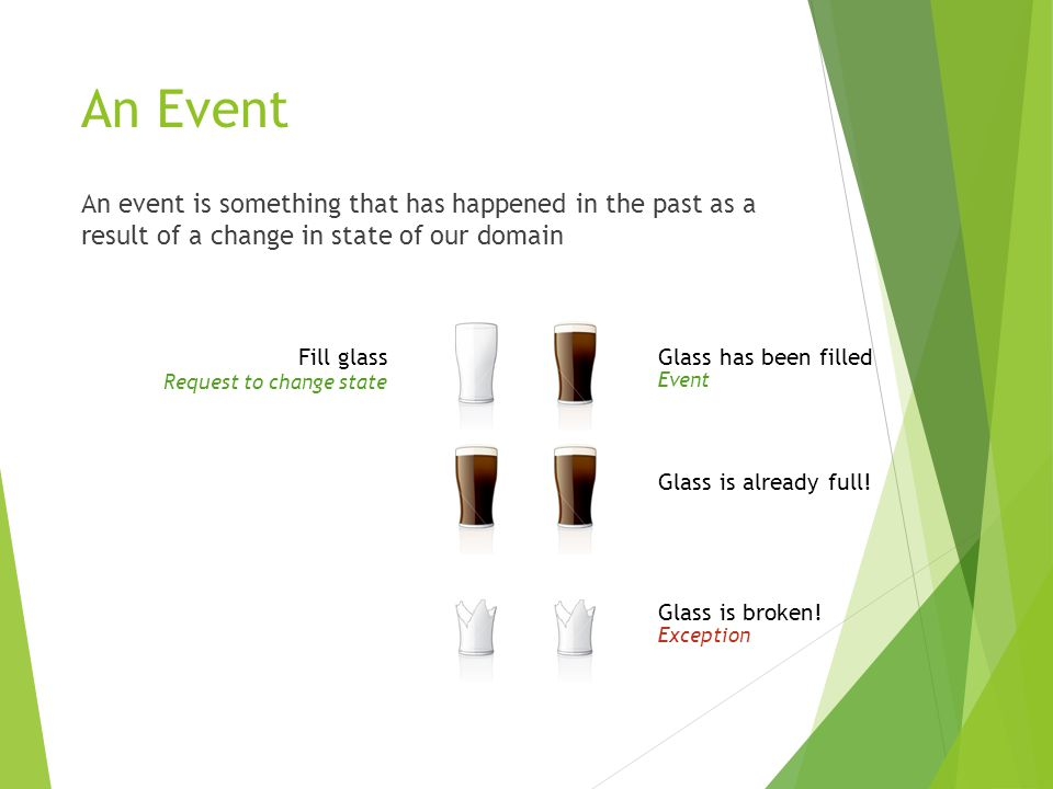 Events as a Storage Mechanism