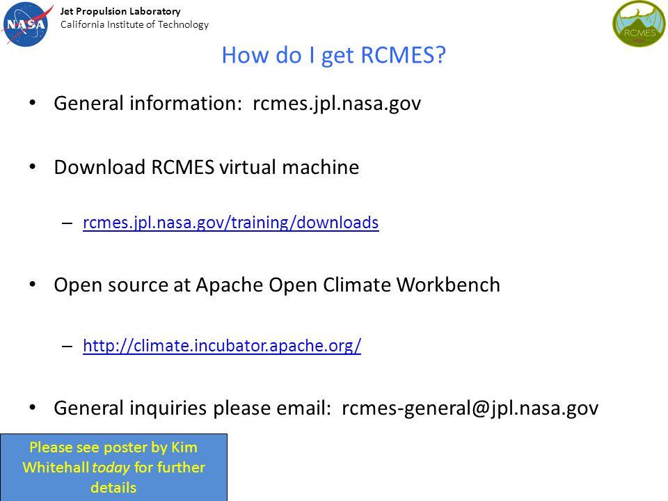 How do I get RCMES.