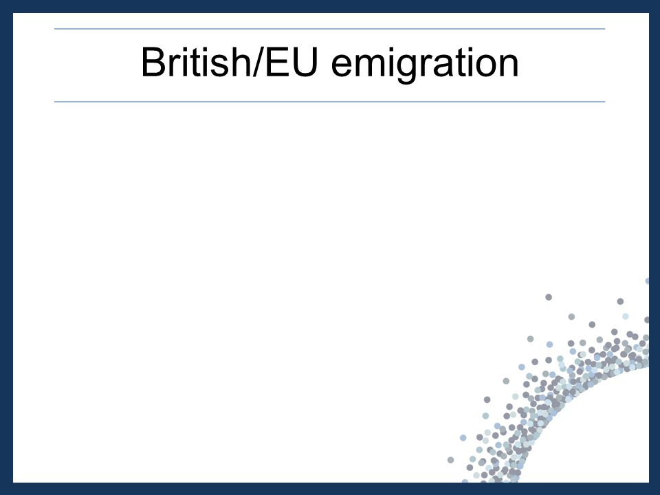 British/EU emigration