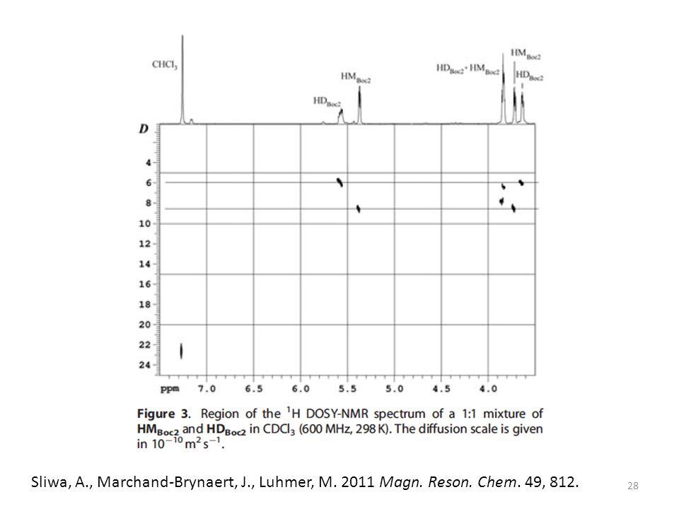 Sliwa, A., Marchand-Brynaert, J., Luhmer, M. 2011 Magn. Reson. Chem. 49, 812. 28