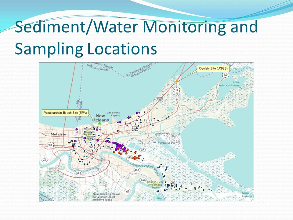 Sediment/Water Monitoring and Sampling Locations