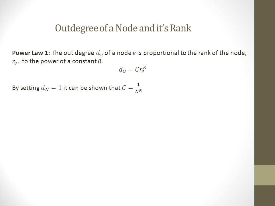 Outdegree of a Node and it's Rank