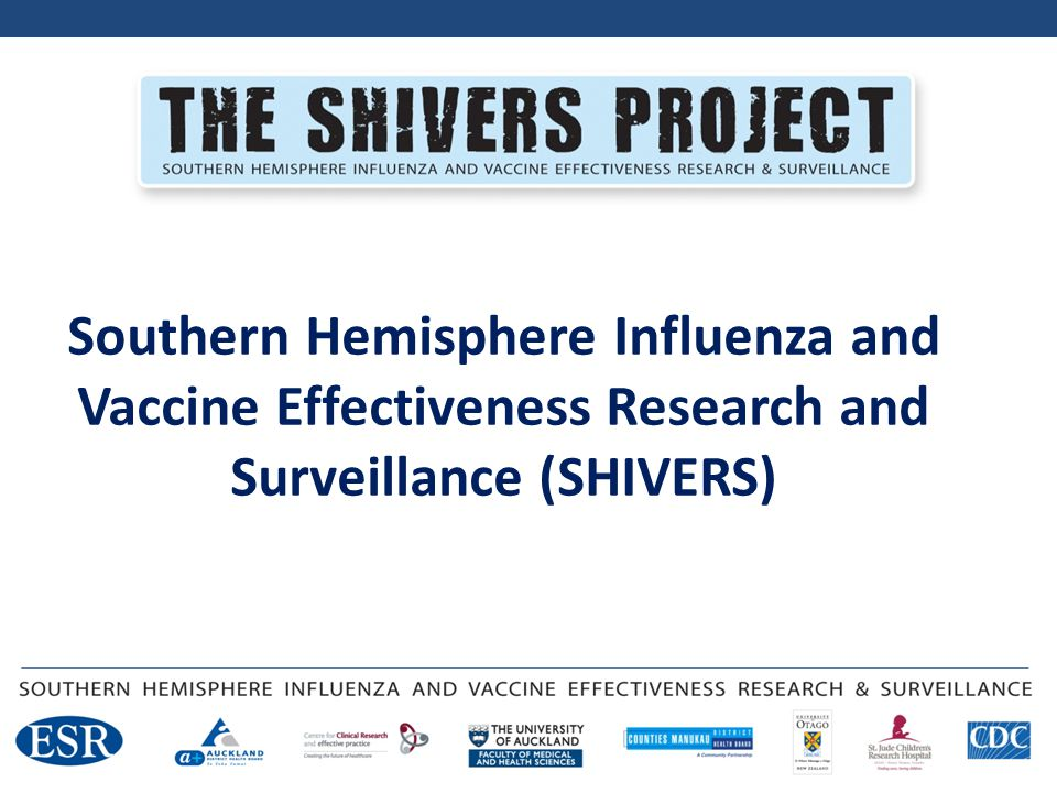 Comprehensive investigation of influenza epidemiology, aetiology, immunology and vaccine effectiveness US CDC 5 year funded project Started 2012