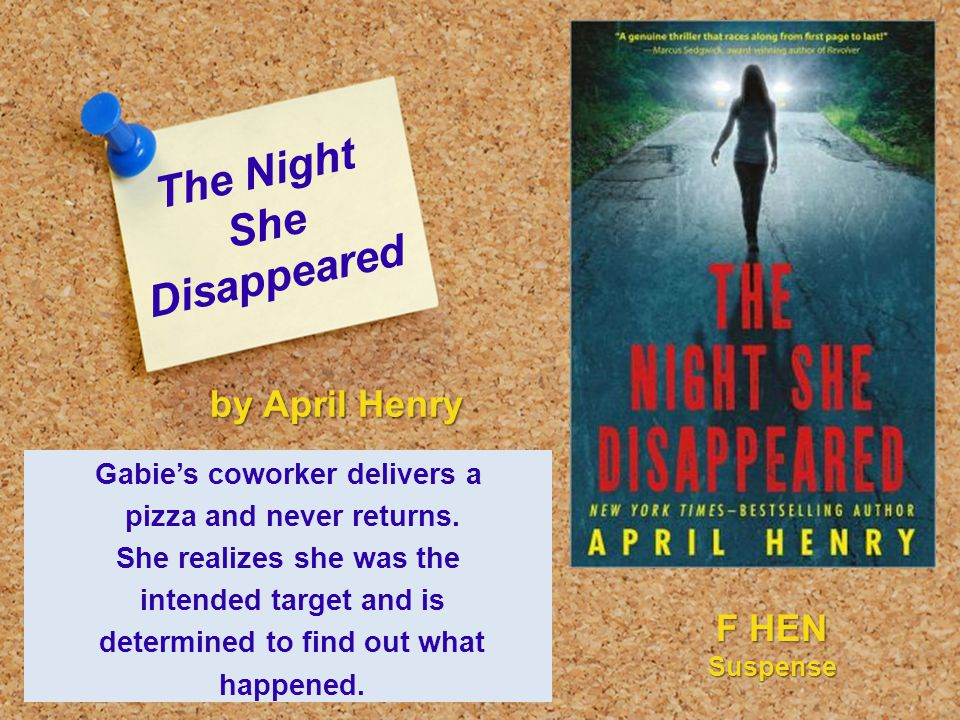 The Night She Disappeared Gabie's coworker delivers a pizza and never returns.