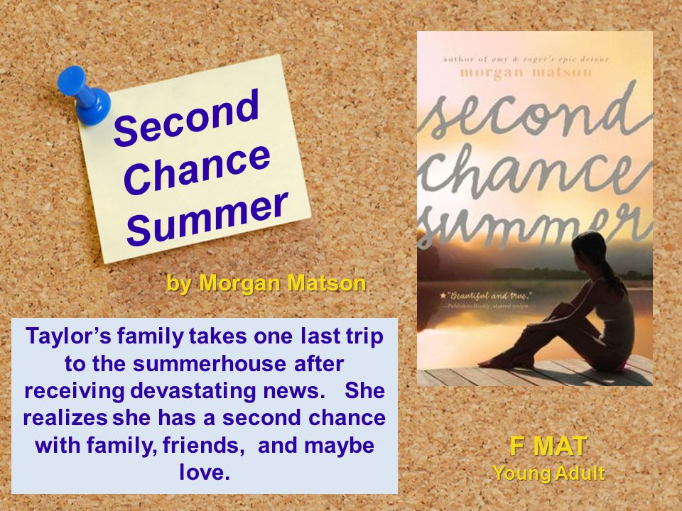 Second Chance Summer Taylor's family takes one last trip to the summerhouse after receiving devastating news.