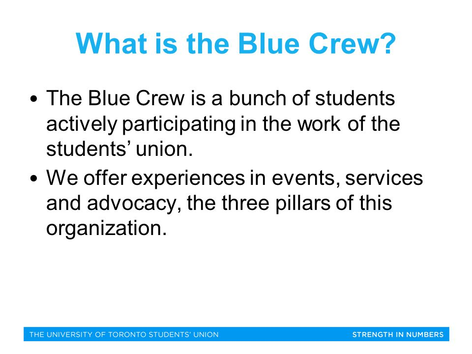 What is the Blue Crew.