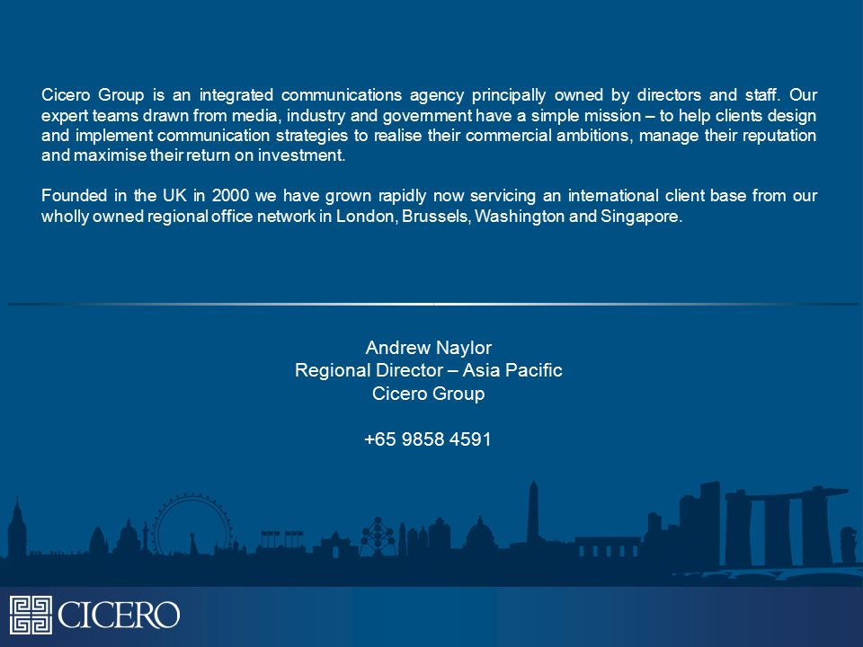Cicero Group is an integrated communications agency principally owned by directors and staff.