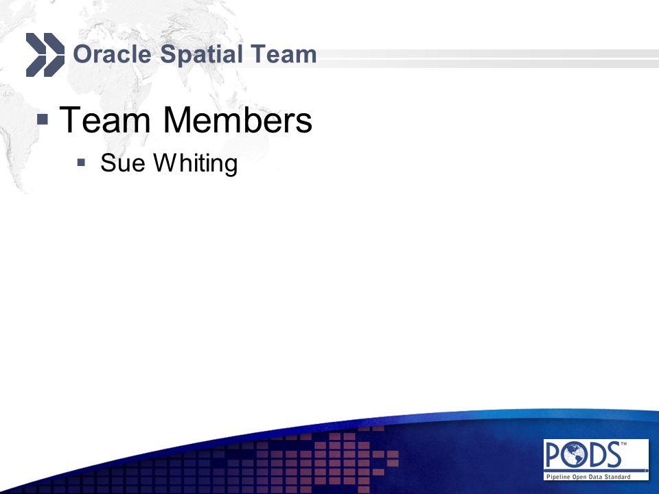Oracle Spatial Team  Team Members  Sue Whiting