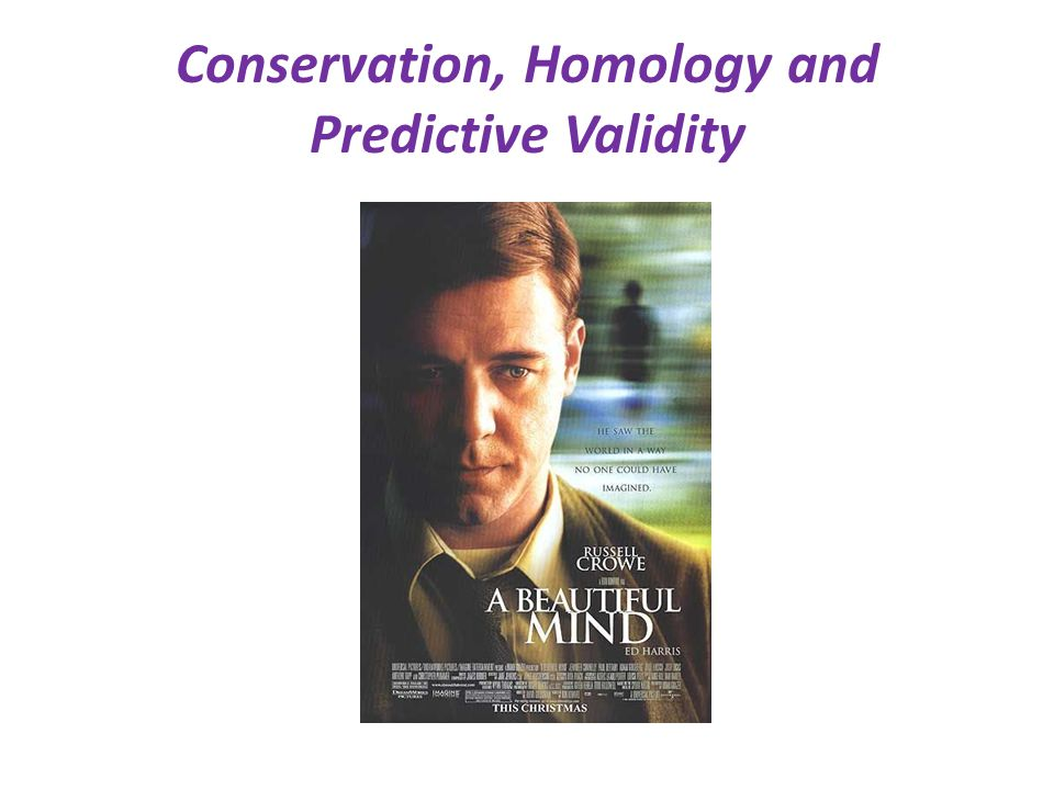 Conservation, Homology and Predictive Validity