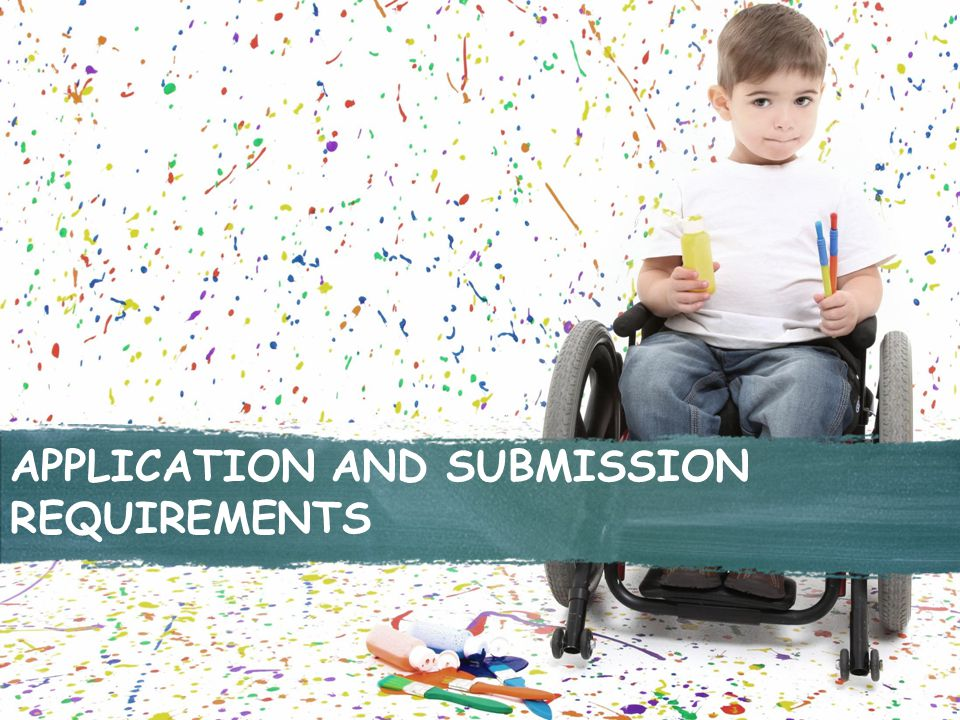 APPLICATION AND SUBMISSION REQUIREMENTS