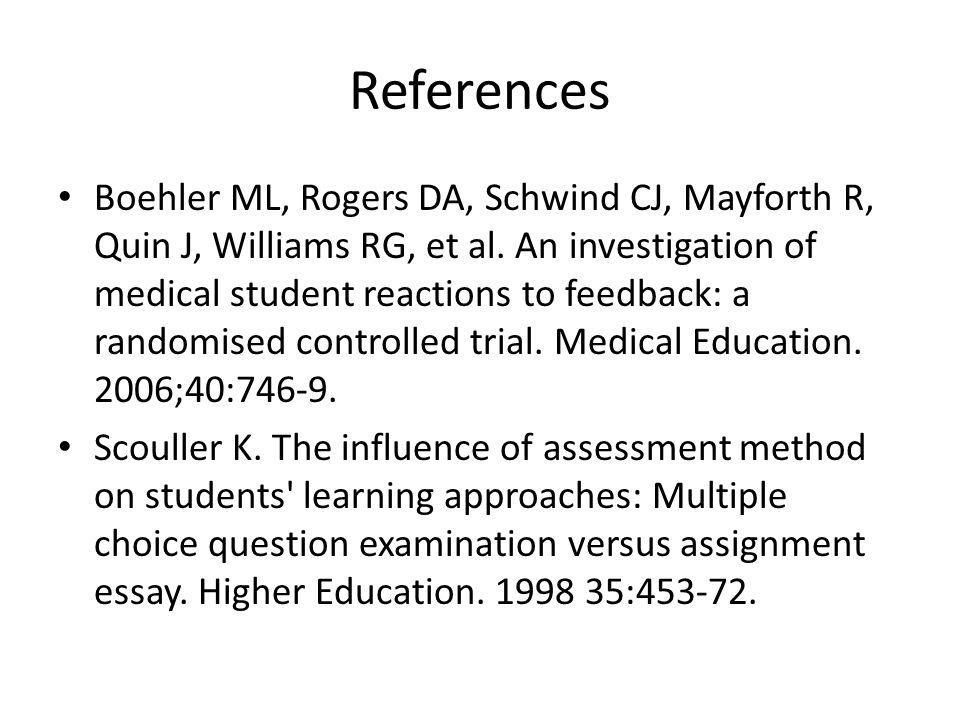 References Boehler ML, Rogers DA, Schwind CJ, Mayforth R, Quin J, Williams RG, et al.