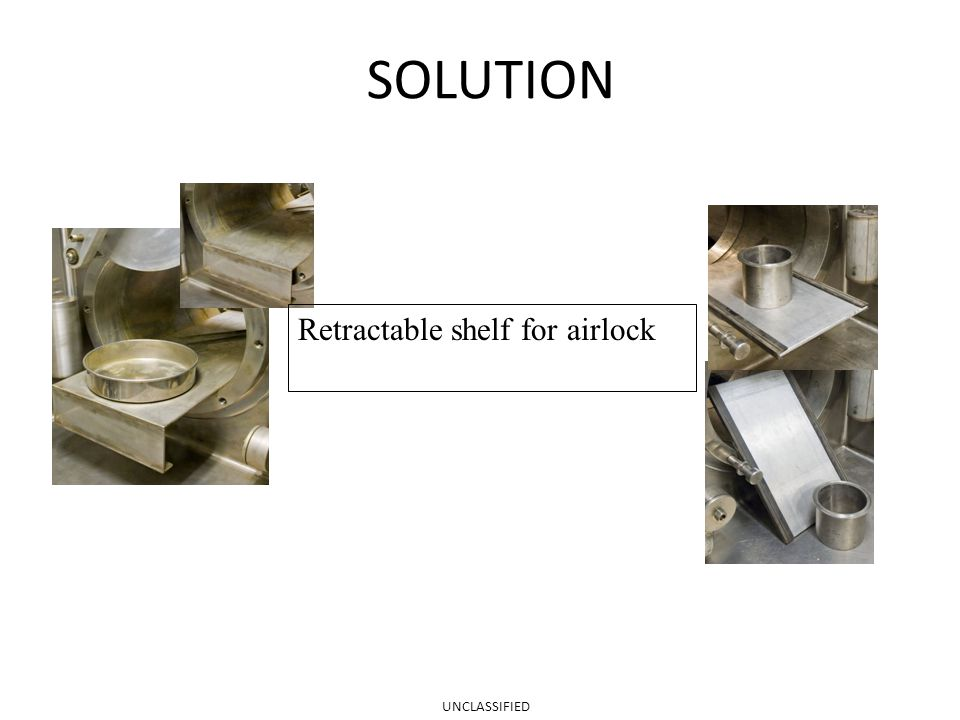 SOLUTION Retractable shelf for airlock UNCLASSIFIED