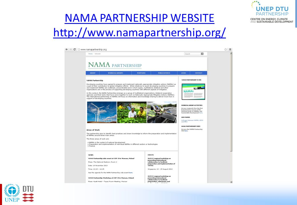 NAMA PARTNERSHIP WEBSITE http://www.namapartnership.org/