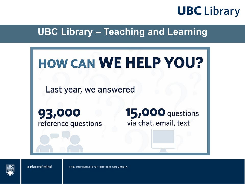 UBC Library – Teaching and Learning