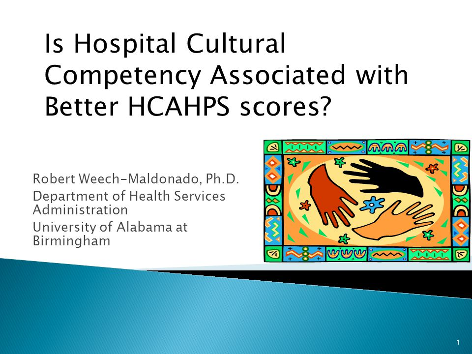 Robert Weech-Maldonado, Ph.D. Department of Health Services Administration University of Alabama at Birmingham 1 Is Hospital Cultural Competency Assoc