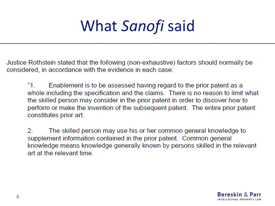 What Sanofi said 6