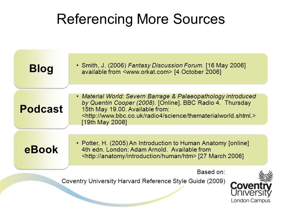 Smith, J.(2006) Fantasy Discussion Forum.