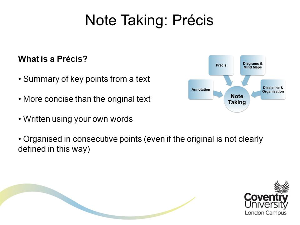 What is a Précis.