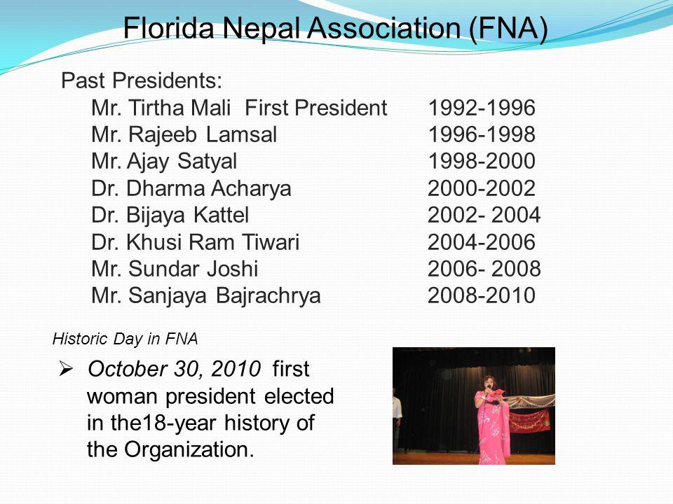 Florida Nepal Association (FNA) Past Presidents: Mr.