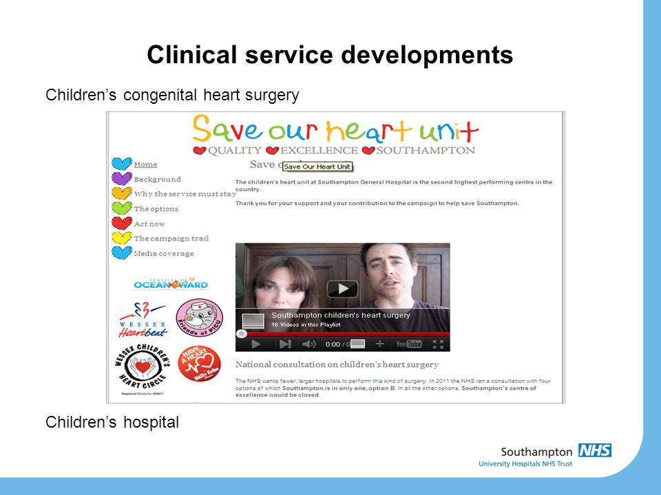 Children's congenital heart surgery Children's hospital