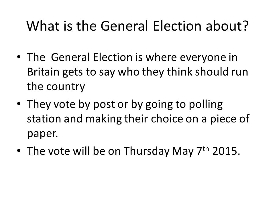 The General Election Video