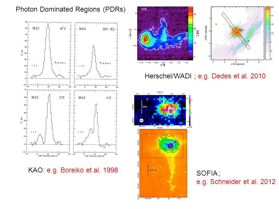 KAO: e.g. Boreiko et al. 1998 Herschel/WADI ; e.g.